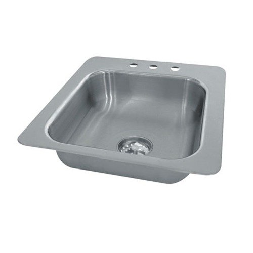 "Advance Tabco SS-1-2321-12 Smart Series Single Bowl Drop In Sink - 20"" x 16"" x 12"" Bowl at Sears.com"