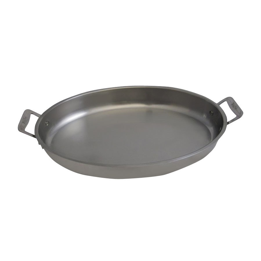 Bon Chef 60020HF Cucina 38 oz. Hammered Finish Stainless Steel Oval Au Gratin