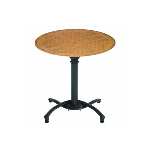 99831108 30 Teak Decor Round Molded Melamine Outdoor Table Top