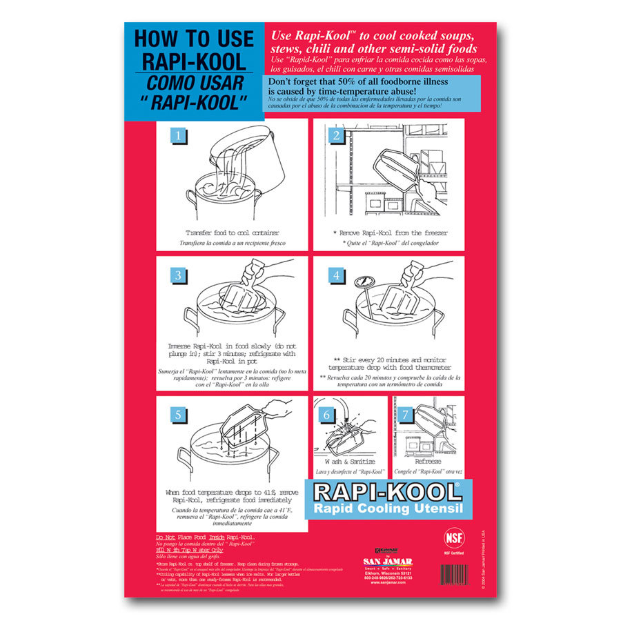 "San Jamar RCUWLCT Rapi-Kool 17"" x 11"" Instructional Wall Chart"