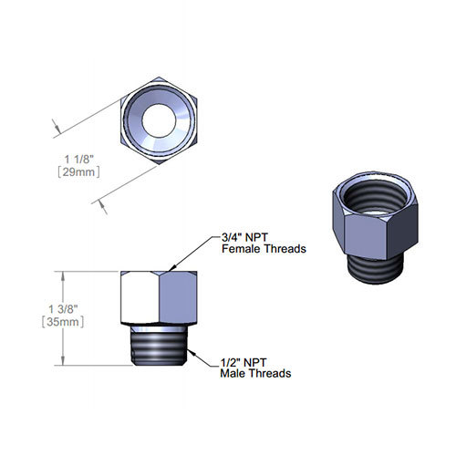 T s  adapter with quot npt female and