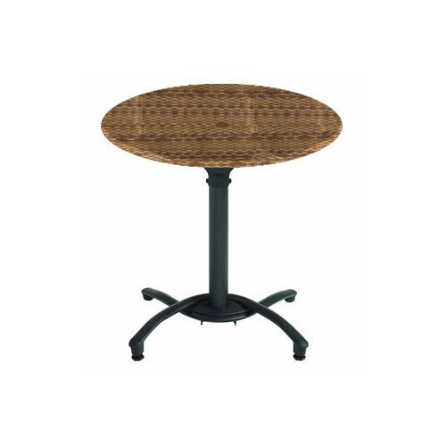 "Grosfillex 99831118 30"" Wicker Round Molded Melamine Outdoor Table Top"