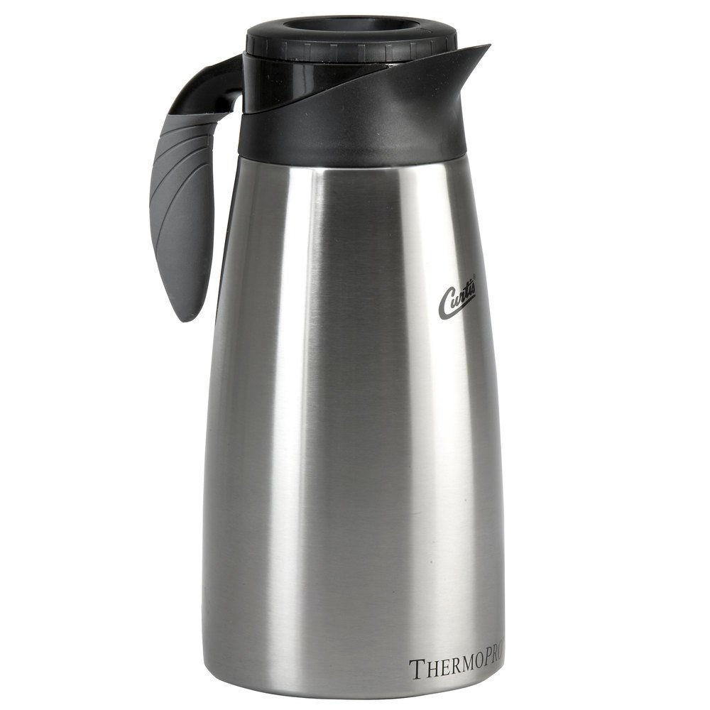 Curtis TLXP1901S000 1.9 Liter Stainless Steel Coffee Server with Liner and Brew Thru Lid - 6/Case
