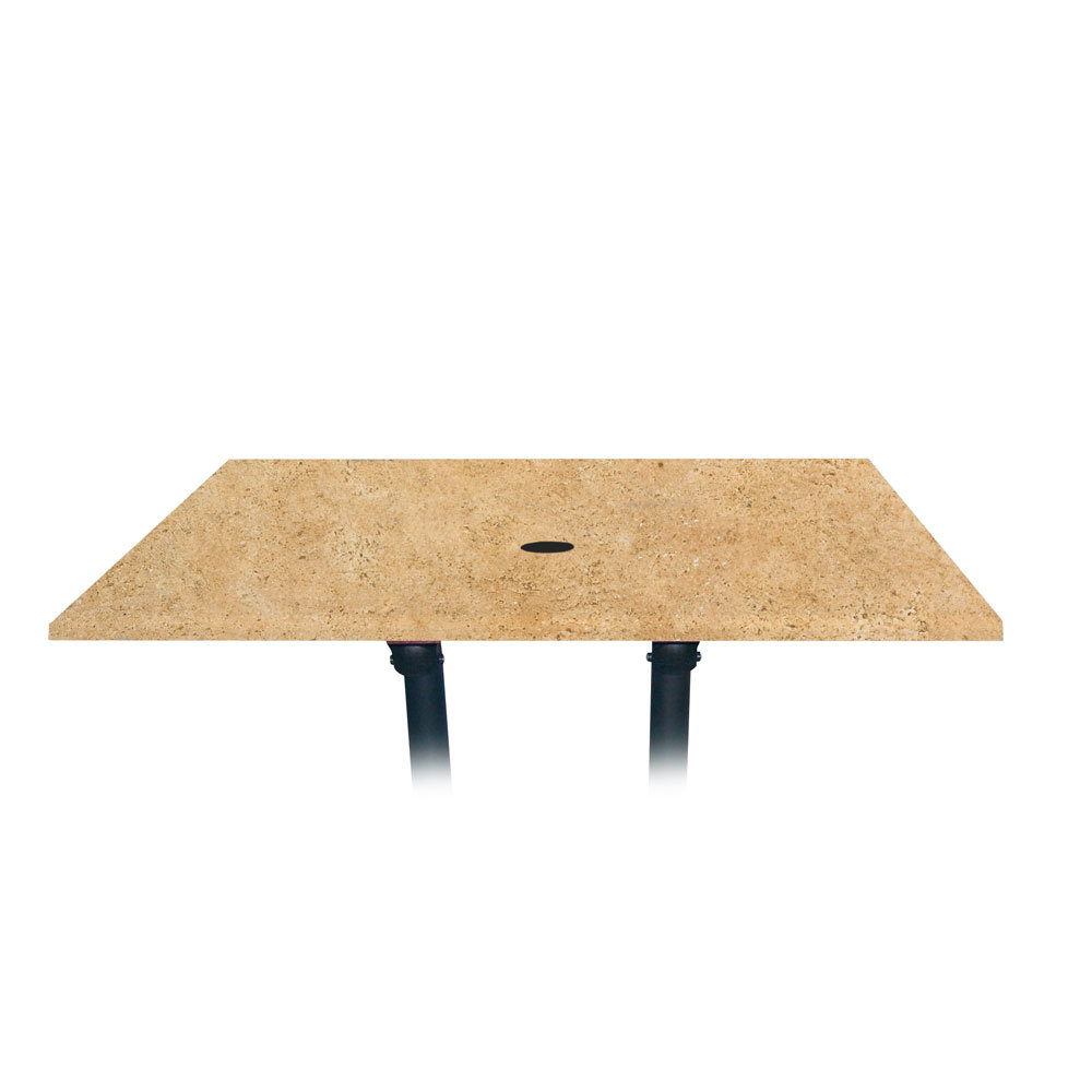 """Grosfillex 9985135848"""" x 32"""" Rectangular Molded Melamine Outdoor Table Top with Umbrella Hole - Catalan at Sears.com"""