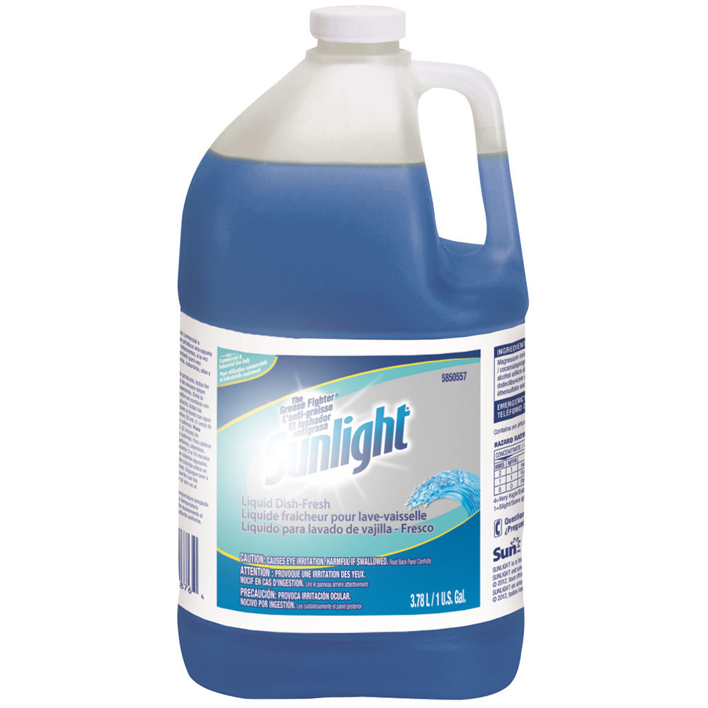 Diversey 95850557 Sunlight 1 Gallon Fresh Liquid Dish Detergent - 4/Case