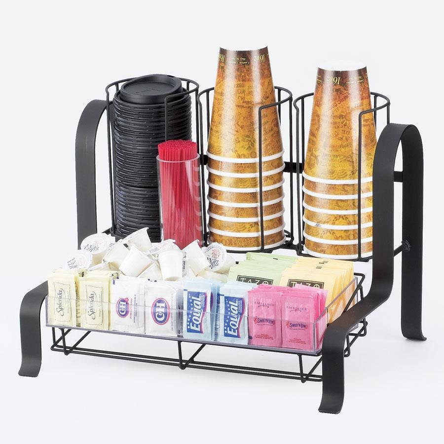 "Cal Mil 1594-13 Black Soho Condiment Organizer ? 15 3/4"" x 11 3/4"" x 12"" at Sears.com"