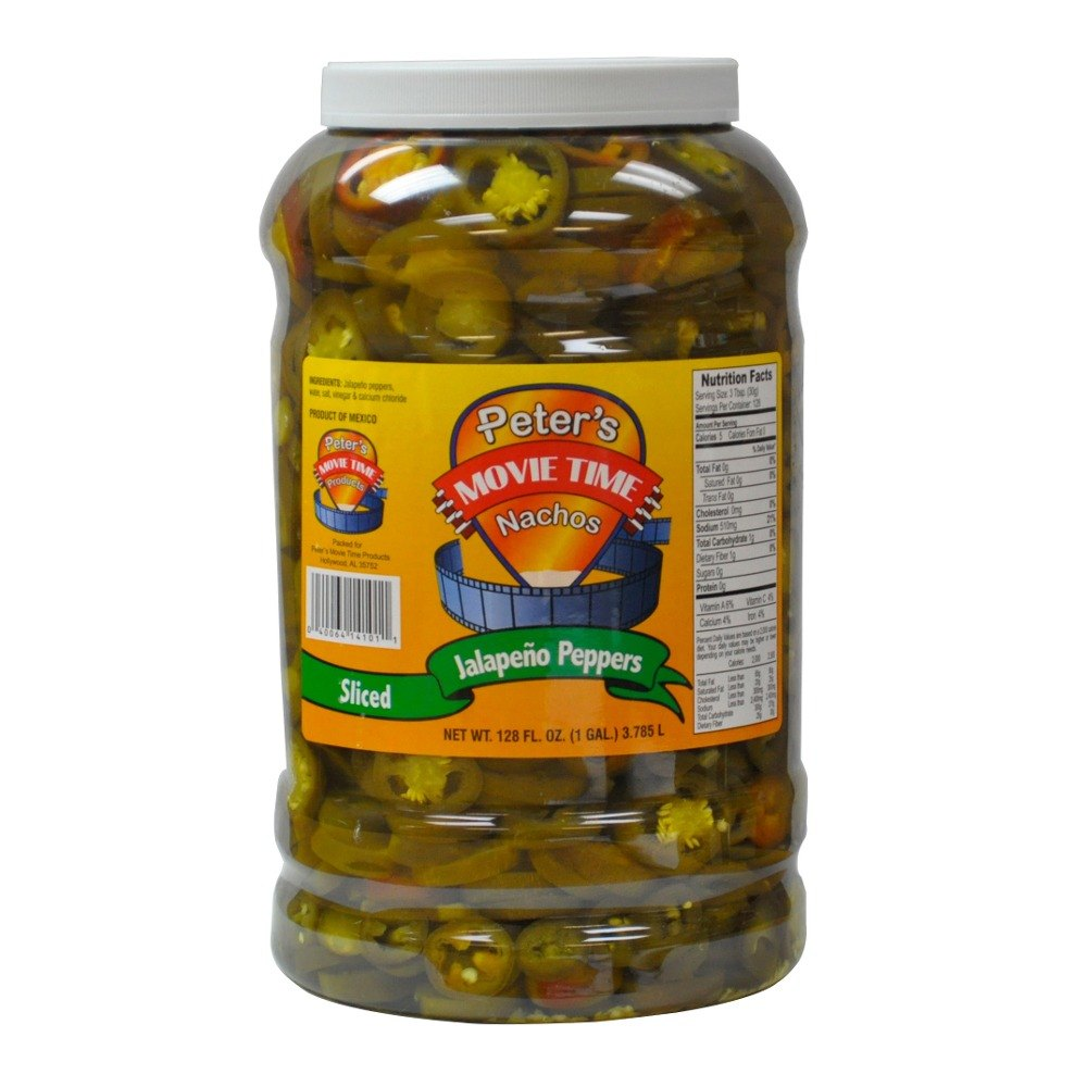 Great Western 14101 1 Gallon Sliced Jalapeno Nacho Peppers - 4 / CS