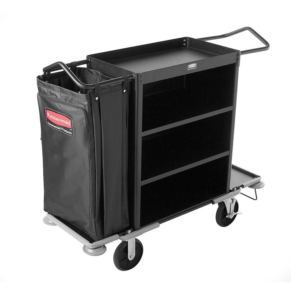Rubbermaid 9T59 Metal Cruise Housekeeping Cart (FG9T5900)