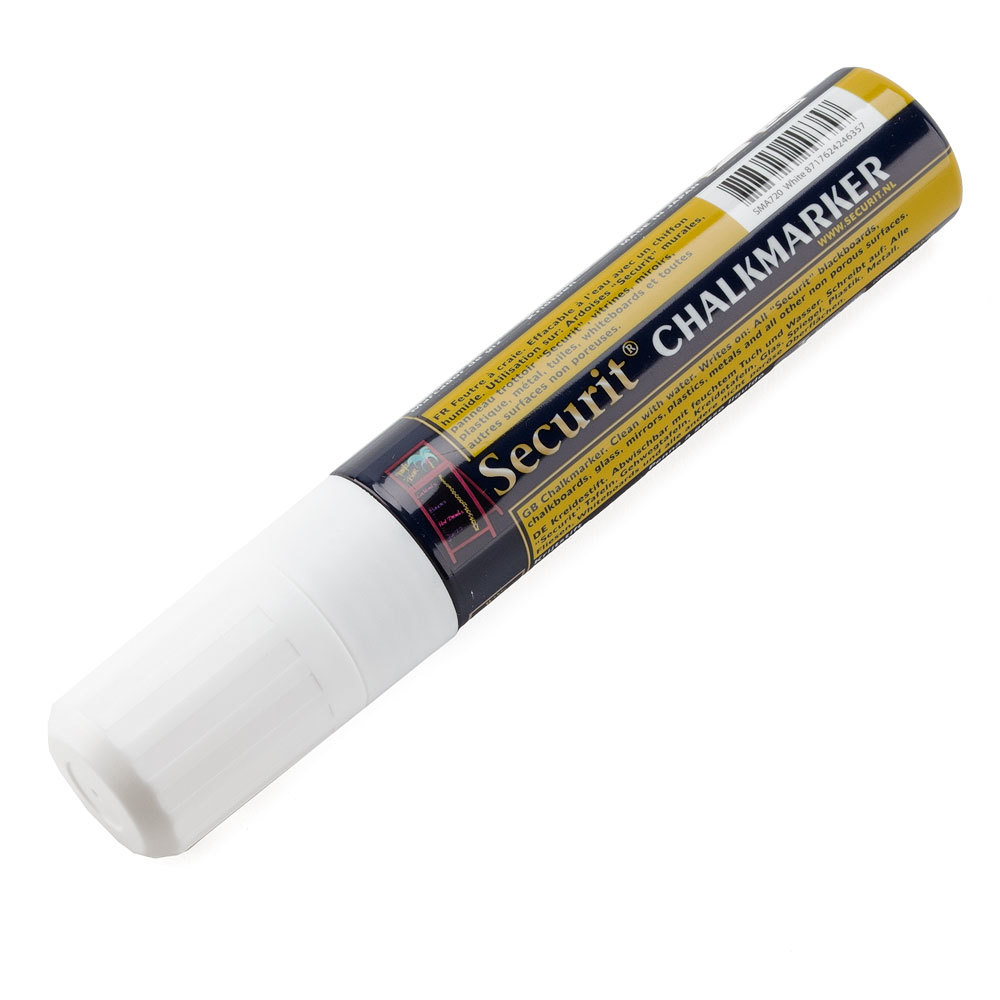 American Metalcraft BLSMA720WT Securit All-Purpose Jumbo Tip White Chalk Marker