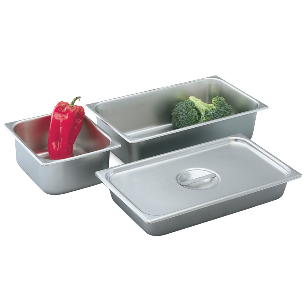 "Vollrath 75202 2 1/2"" Deep 1/2 Size Stainless Steel Deli Pan"