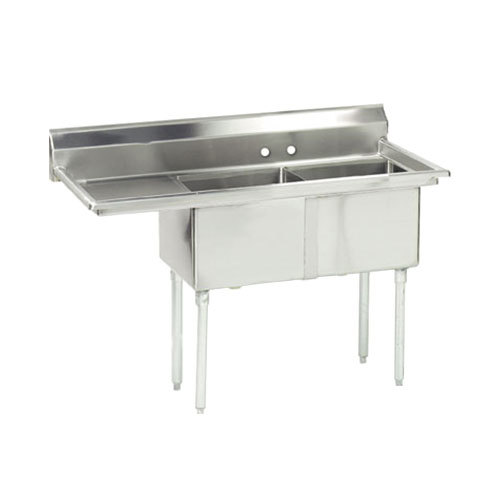 Advance Tabco FC 2 2424 18 Two partment Stainless Steel mercial Sink wi