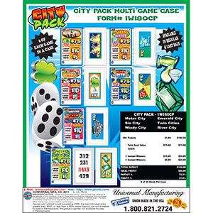 """""""City Pack"""" 1 Window Pull Tab Tickets - 180 Tickets Per Deal - Total Payout: $130 at Sears.com"""