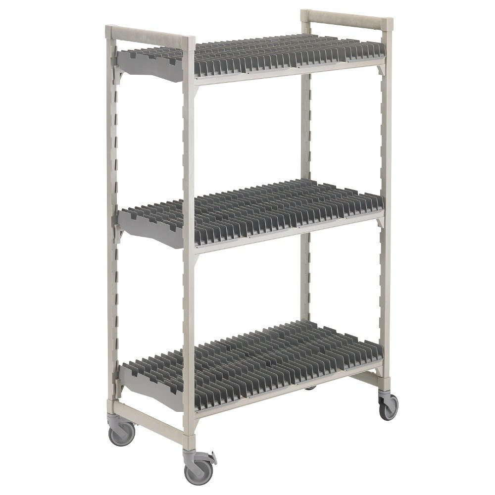 cambro camshelving premium speckled gray drying rack cart 24 inch x 60 inch x 75