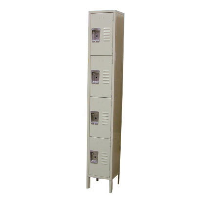 "Single Column 4-Tier Locker 18"" x 12"""