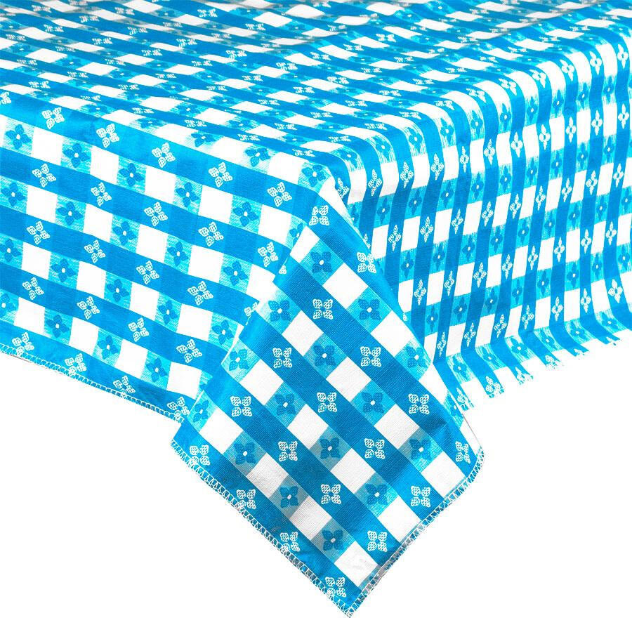 "72"" x 72"" Blue-Checkered Vinyl Table Cover with Flannel Back at Sears.com"