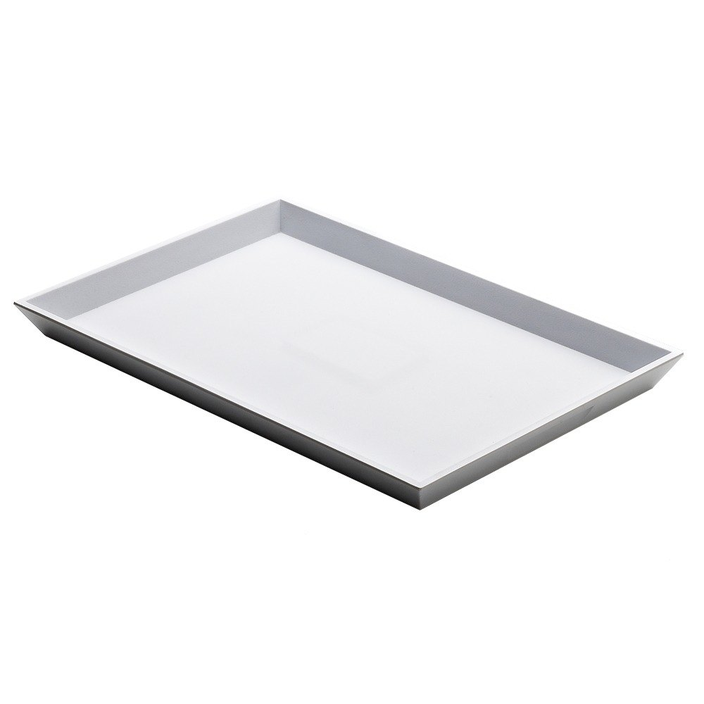 "Elite Global Solutions JW5216 Zen 15 3/4"" x 10 1/4"" White Rectangular Tray"