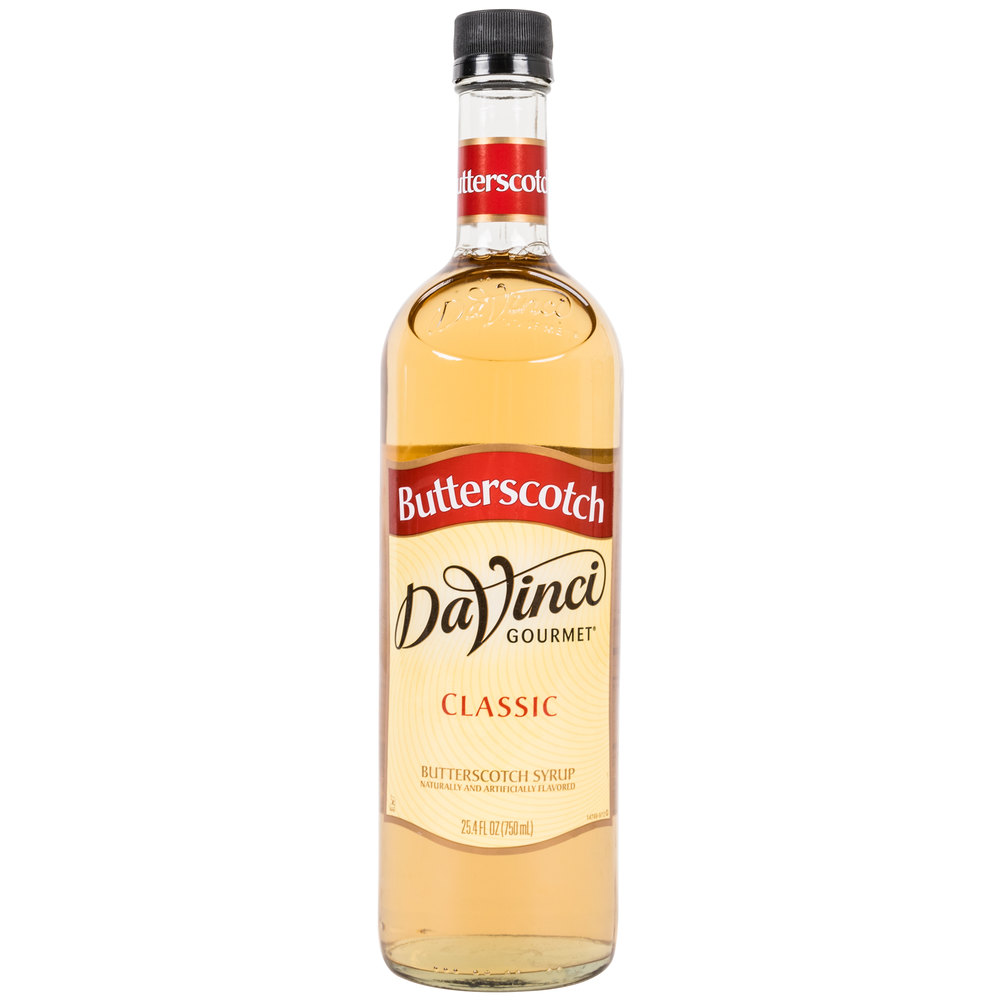DaVinci Gourmet 750 mL Butterscotch Classic Coffee Flavoring Syrup