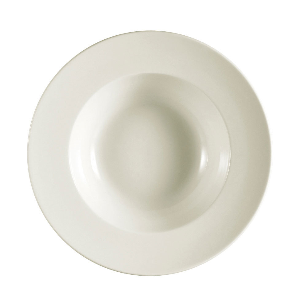 CAC REC-107 22 oz. Ivory (American White) Rolled Edge Deep China Pasta Bowl - 12/Case