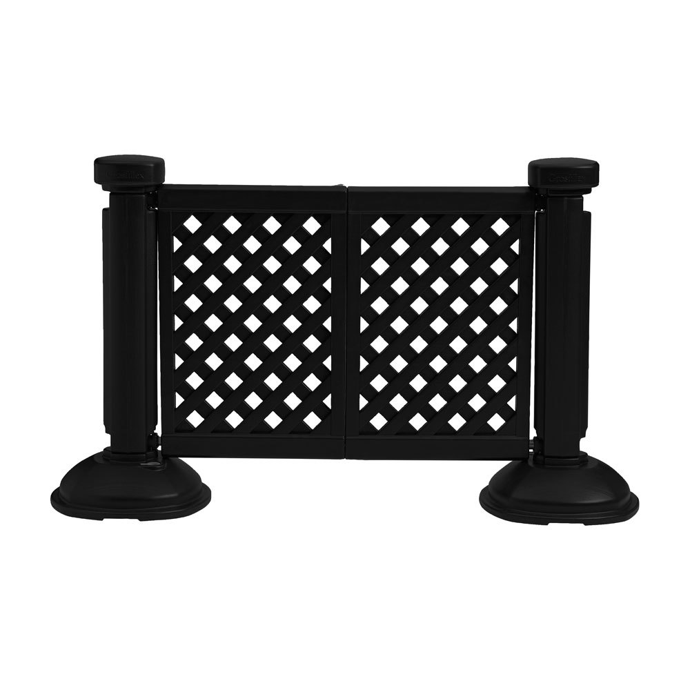1 2 Resin Panel : Grosfillex us panel resin patio fence black