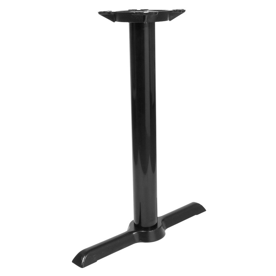 5 inch x 22 inch End Black Metal Table Base