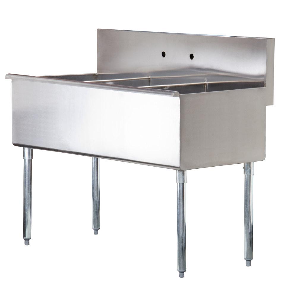 Regency 16 gauge three compartment stainless steel - Undermount 3 compartment kitchen sinks ...