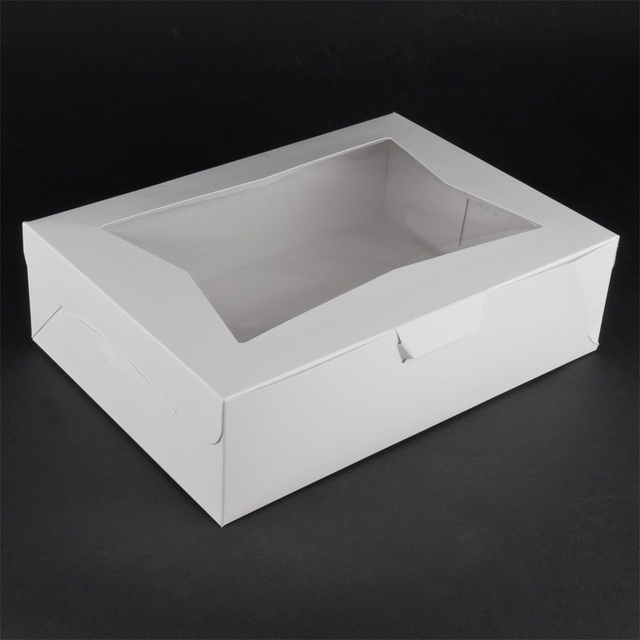 Window Cake / Bakery Box 14 inch x 10 inch x 4 inch 100/Case
