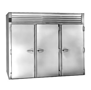 """Traulsen RIH332LP-FHS Stainless Steel 117.5 Cu. Ft. Three Section Roll-Thru Heated Holding Cabinet for 66"""" Pan Racks - Specifica at Sears.com"""