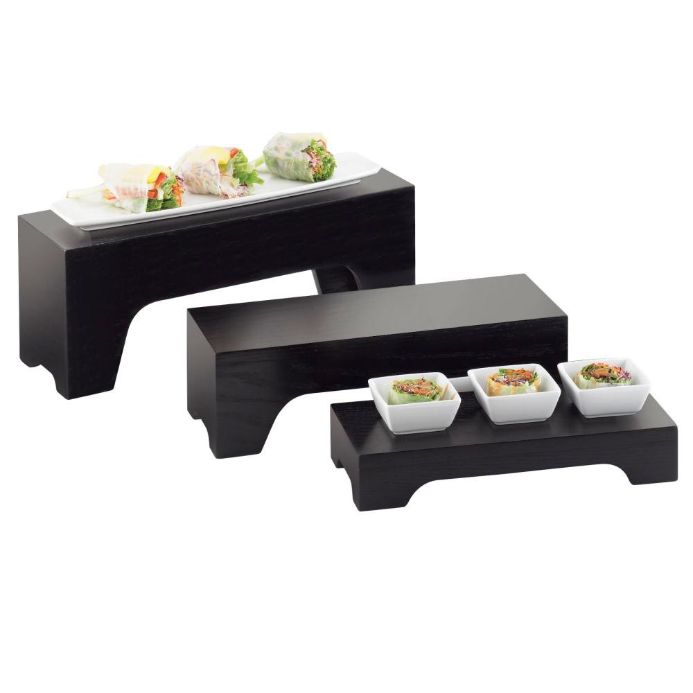 Cal Mil 1936-1-96 Midnight Rectangle Riser - 12 inch x 5 inch x 2 inch