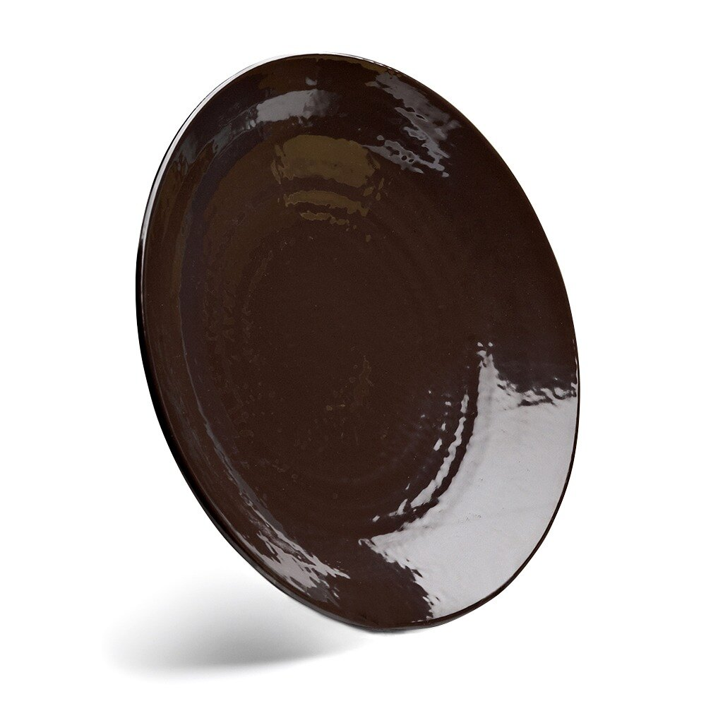 "Elite Global Solutions D638RR Pebble Creek Aubergine-Colored 6 3/8"" Round Plate at Sears.com"