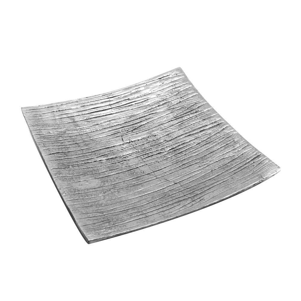 "Elite Global Solutions ALB1175 Savanna Bark-Textured 11 3/4"" Square Dish"