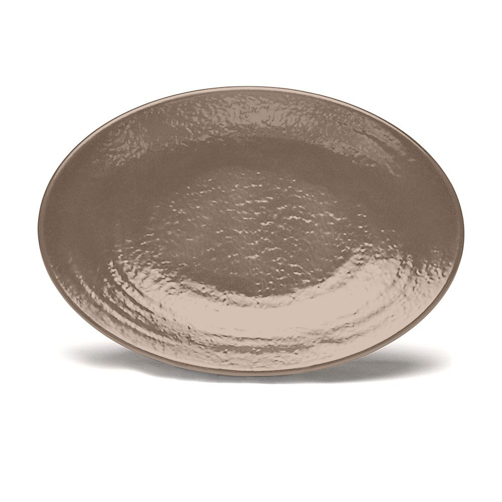 "Elite Global Solutions D812RR Pebble Creek Mushroom-Colored 12 3/4"" x 8 3/4"" Oval Platter at Sears.com"