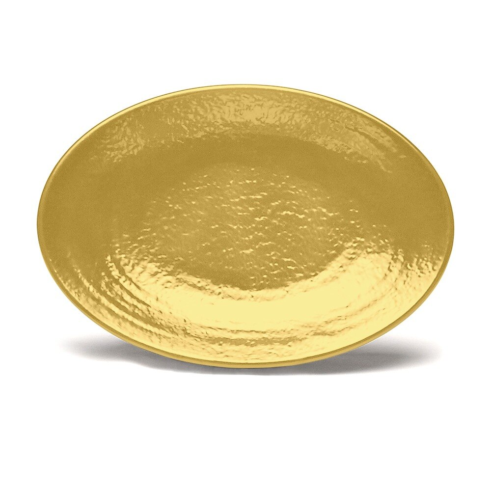 "Elite Global Solutions D812RR Pebble Creek Olive Oil-Colored 12 3/4"" x 8 3/4"" Oval Platter at Sears.com"