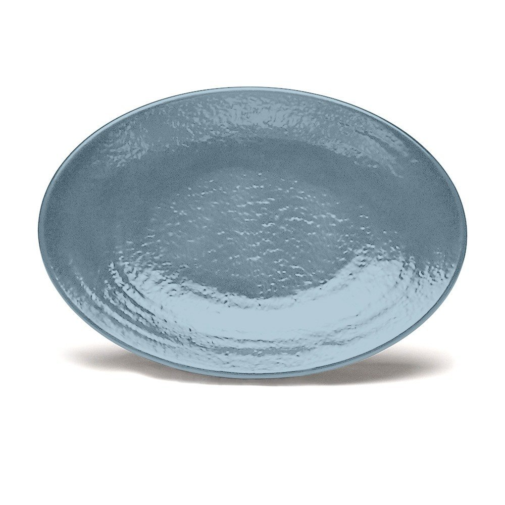 "Elite Global Solutions D812RR Pebble creek Abyss-Colored 12 3/4"" x 8 3/4"" Oval Platter at Sears.com"