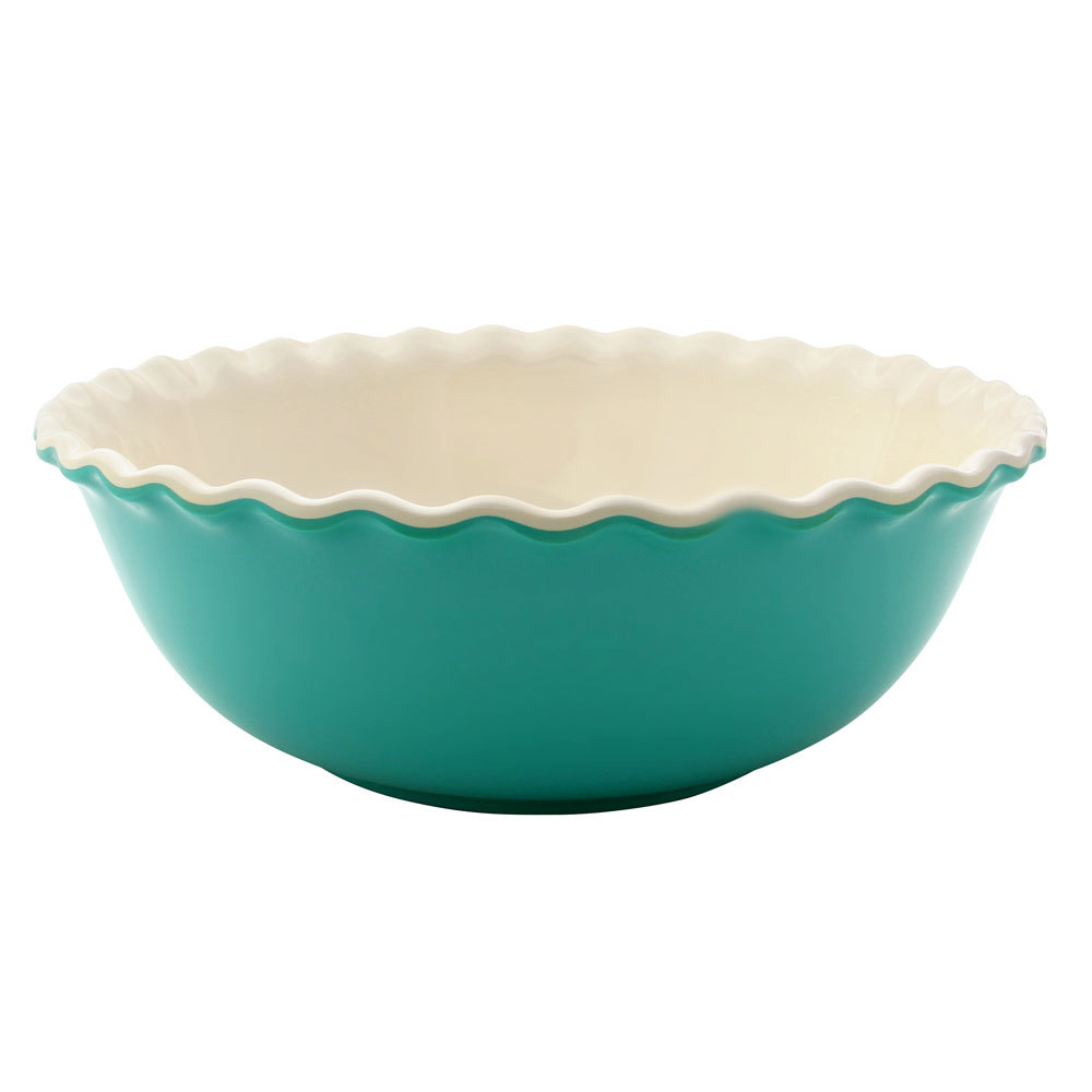 Elite Global Solutions M103 Country Kitchen Turquoise 2.6 Qt. Round Melamine Baker
