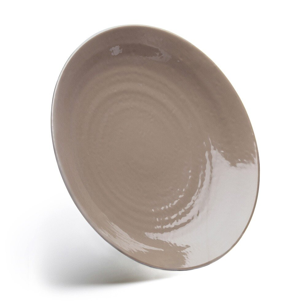 "Elite Global Solutions D117RR Pebble Creek Mushroom-Colored 11 7/8"" Round Plate at Sears.com"