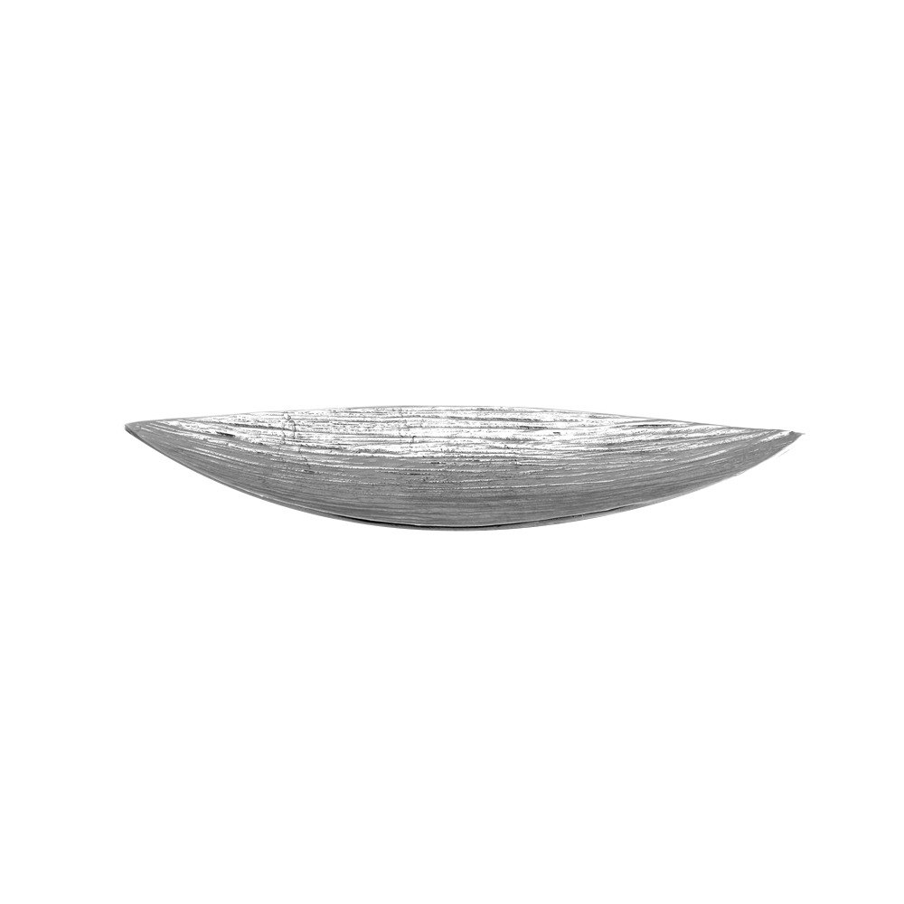 "Elite Global Solutions ALB257 Savanna Bark-Textured 25 1/8"" x 7"" Boat Dish"