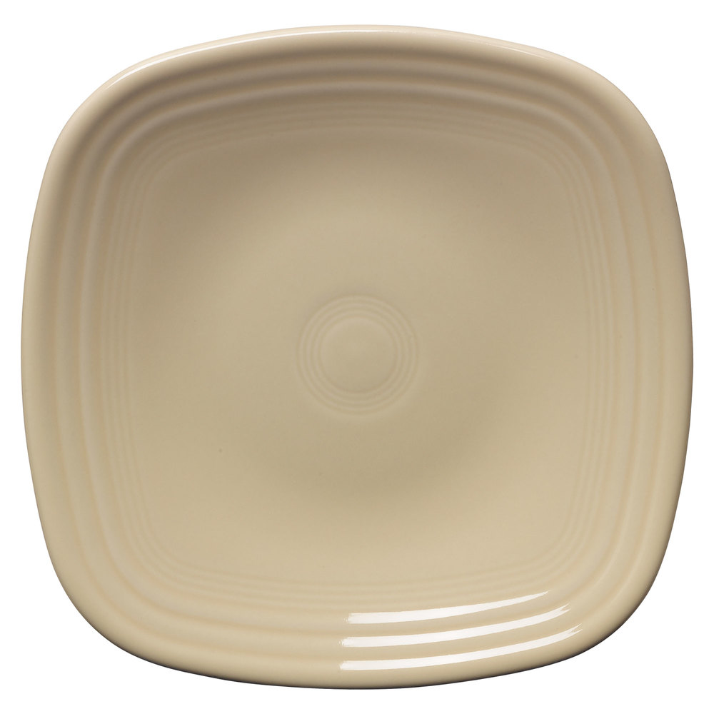 "Homer Laughlin 921330 Fiesta Ivory 7 1/2"" Square Salad Plate - 12/Case"