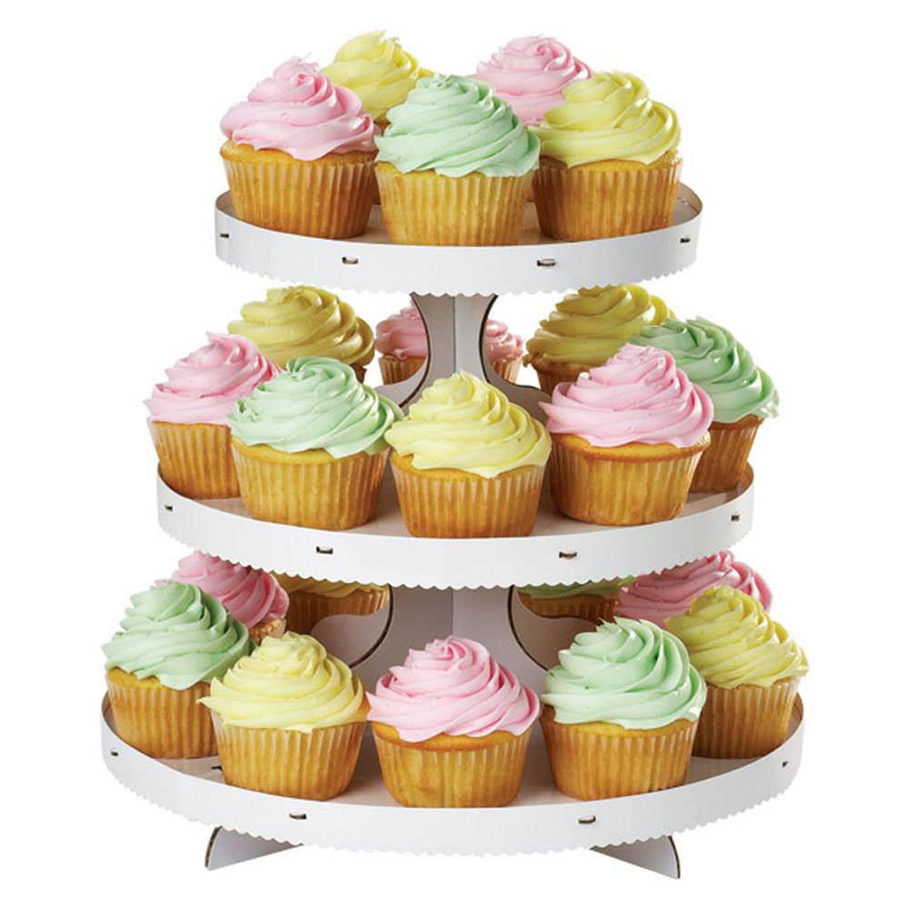 Wilton 1512-127 3-Tier White Disposable Cupcake Treat Stand