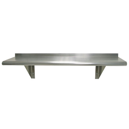 "Advance Tabco WS-10-36 10"" x 36"" Wall Shelf - Stainless Steel"
