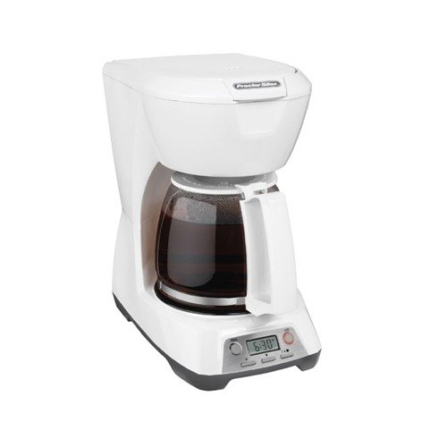4 Cup Coffee Maker Auto Shut Off : Proctor Silex 43671 White Programmable 12 Cup Coffee Maker with Auto Shut Off