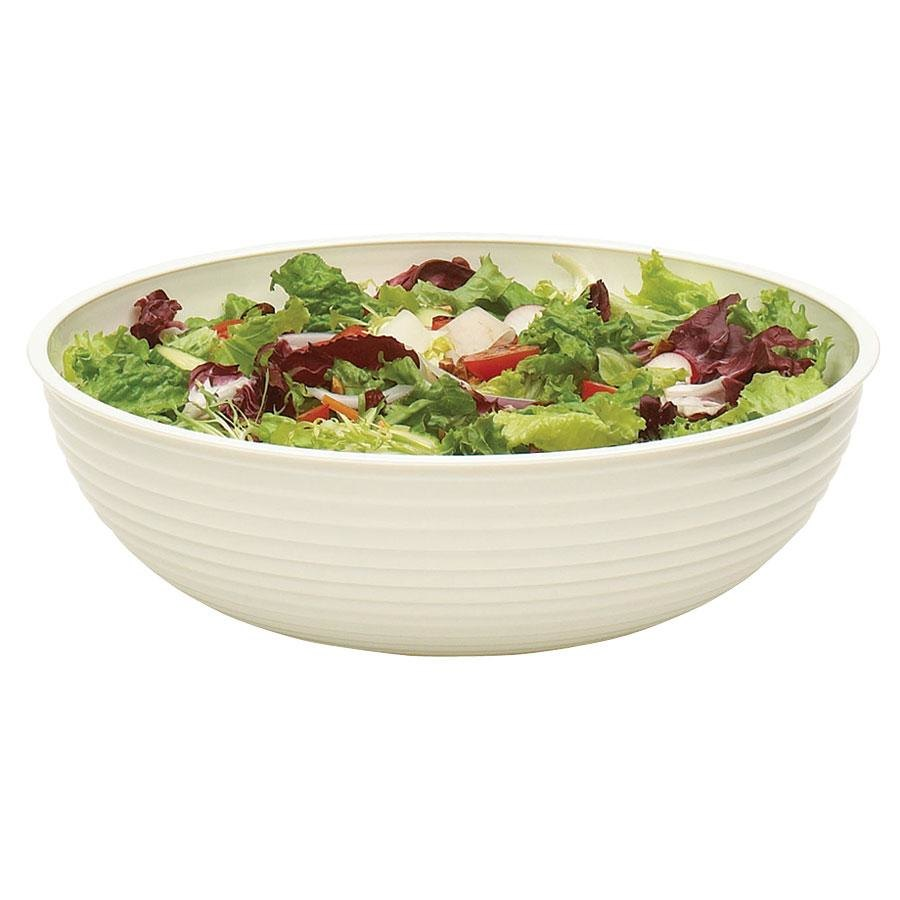 Cambro RSB10CW148 3.2 Qt. White Camwear Round Ribbed Bowl