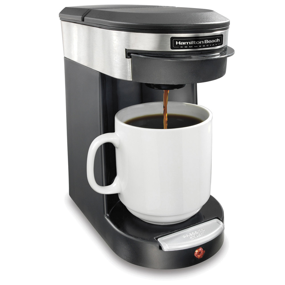 Coffee Maker For One : Hamilton Beach HDC200S Stainless Steel Single Serving Pod Coffee Maker - 120V, 500W