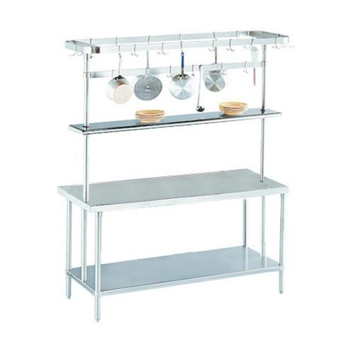 "Advance Tabco SCT-48 Smart Fabrication 48"" Middle Mount Stainless Steel Pot Rack / Utensil Rack"