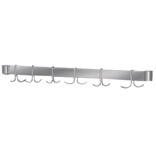 "Advance Tabco UB-30 Stainless Steel Leg Mounted Pot Rack for 30"" Wide Work Tables with Undershelf"