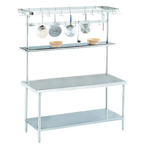 """Advance Tabco SWT-60 Smart Fabrication 60"""" Rear Mount Stainless Steel Pot Rack / Utensil Rack at Sears.com"""