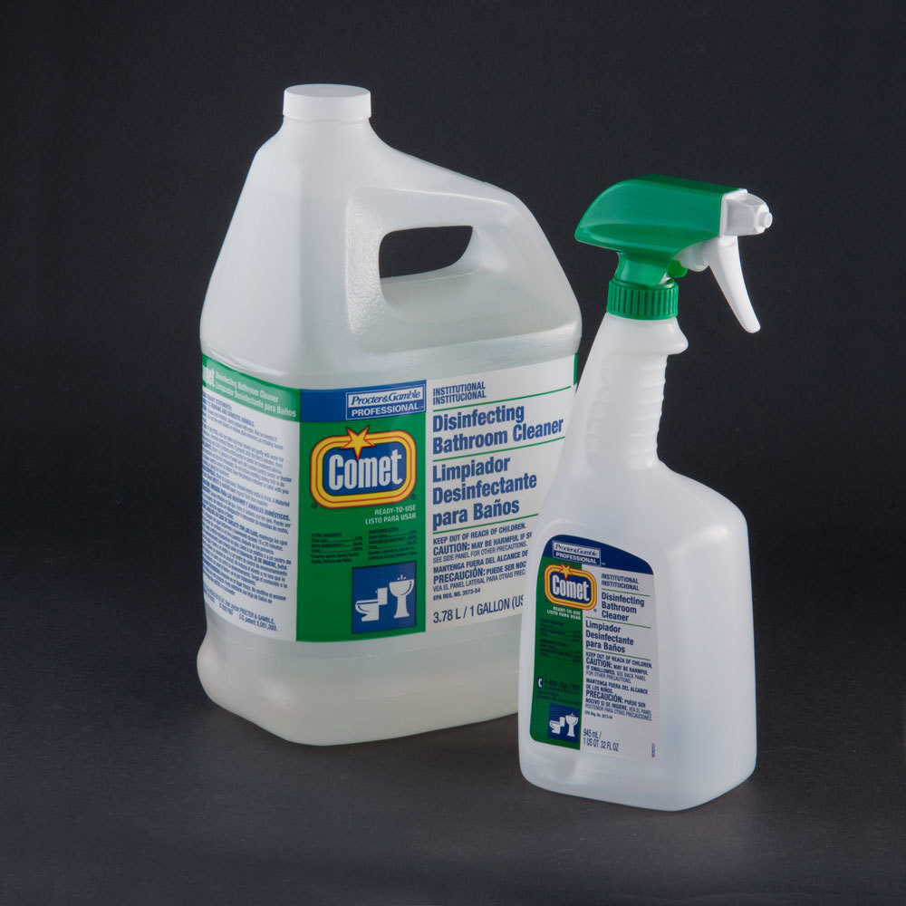 Comet Disinfecting Sanitizing Bathroom Cleaner Msds: Procter & Gamble 22570 1 Gallon Comet Disinfecting