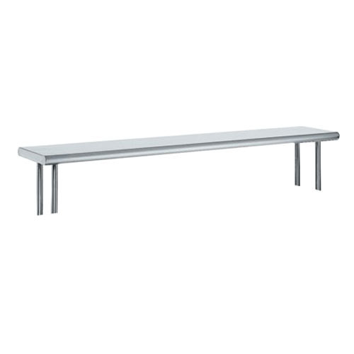 "Advance Tabco OTS-15-72R 15"" x 72"" Table Rear Mounted Single Deck Stainless Steel Shelving Unit with 1"" Rear Turn-Up"