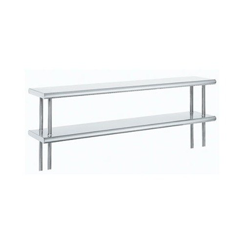 """Advance Tabco ODS-15-36R 15"""" x 36"""" Table Rear Mounted Double Deck Stainless Steel Shelving Unit with 1"""" Rear Turn-Up at Sears.com"""