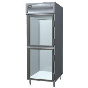 Delfield SSR1N-GH Stainless Steel 21 Cu. Ft. One Section Glass Half Door Narrow Reach In Refrigerator - Specification Line
