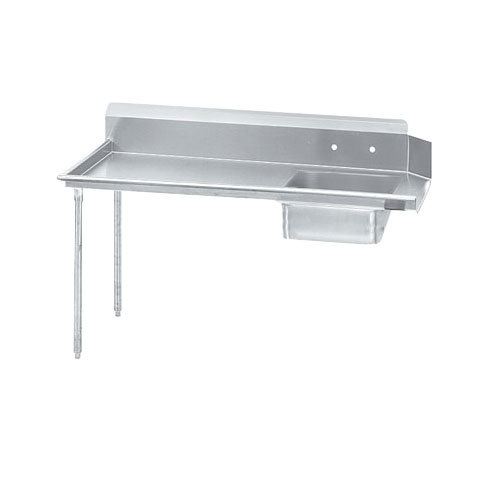 Advance Tabco DTS-S60-84 7' Super Saver Stainless Steel Soil Straight Dishtable